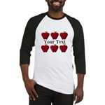 Personalizable Red Apples Baseball Jersey