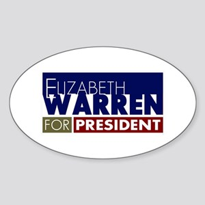 Elizabeth Warren for President V1 Sticker (Oval)