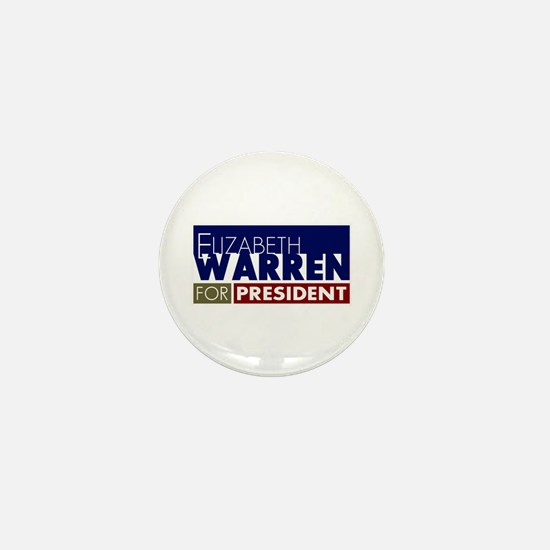 Elizabeth Warren for President V1 Mini Button