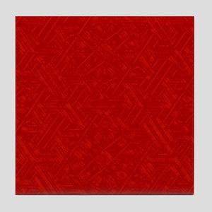 Red crystalline Tile Coaster
