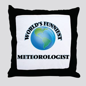 World's Funniest Meteorologist Throw Pillow