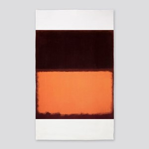 ROTHKO BROWN AND PEACH 3'x5' Area Rug