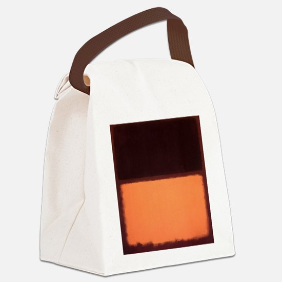 ROTHKO BROWN AND PEACH Canvas Lunch Bag