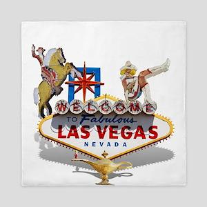Las Vegas Welcome Sign Queen Duvet