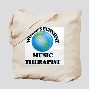 World's Funniest Music Therapist Tote Bag