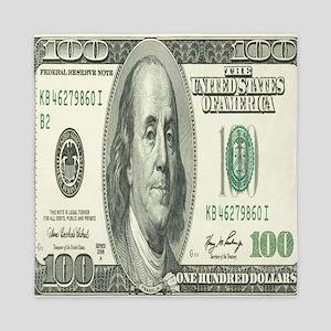 One Hundred Dollar Bill Queen Duvet