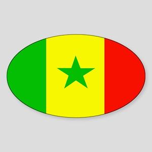 Senegalese Flag Oval Sticker