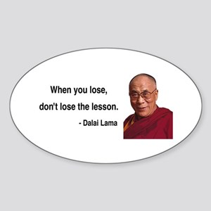 Dalai Lama 12 Oval Sticker