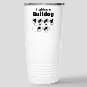 Stubborn Bulldog v2 Stainless Steel Travel Mug