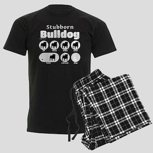 Stubborn Bulldog v2 Men's Dark Pajamas