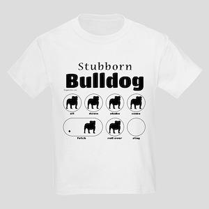 Stubborn Bulldog v2 Kids Light T-Shirt