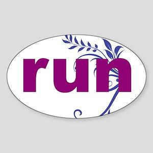 Purple run sticker Sticker