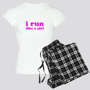 i run like a girl pink Women's Light Pajamas