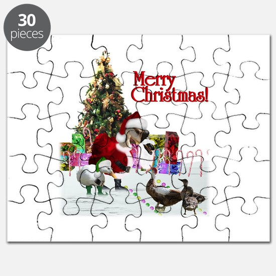 Christmas goose and ducks Puzzle