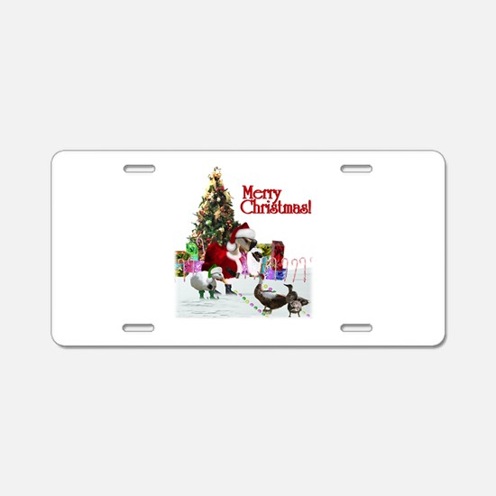 Christmas goose and ducks Aluminum License Plate