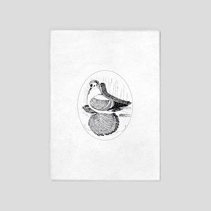 Fairy Swallow Pigeon 5'x7'area Rug