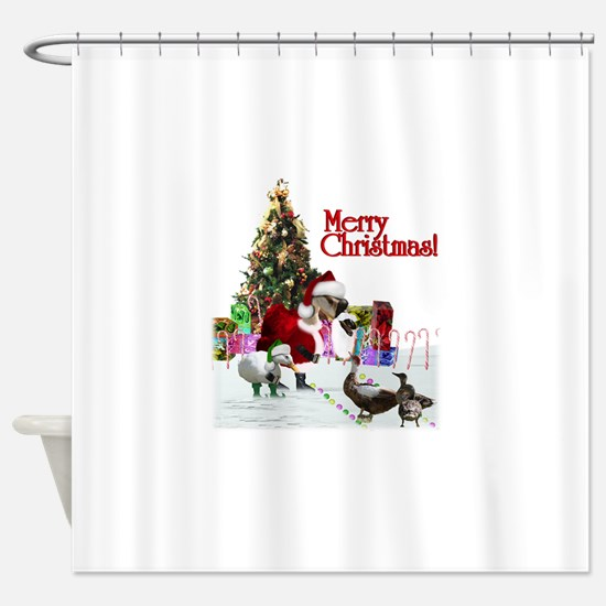Christmas goose and ducks Shower Curtain