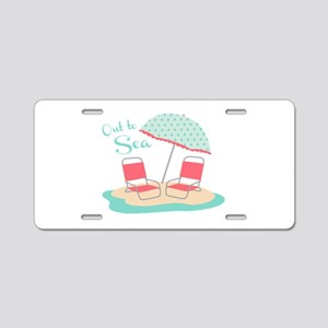 Out to Sea Aluminum License Plate