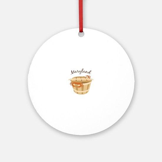 Maryland Crab ! Ornament (Round)