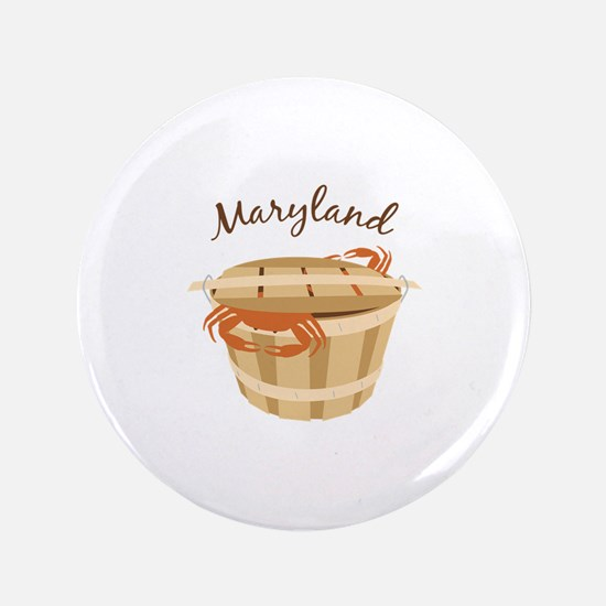 """Maryland Crab ! 3.5"""" Button"""