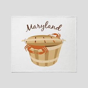 Maryland Crab ! Throw Blanket