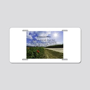 Assurance of Guidance Aluminum License Plate