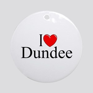 """""""I Love Dundee"""" Ornament (Round)"""