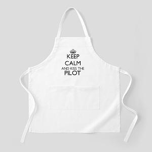 Keep calm and kiss the Pilot Apron