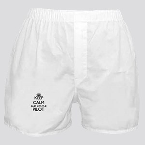 Keep calm and kiss the Pilot Boxer Shorts