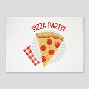 Pizza Party 5'x7'Area Rug