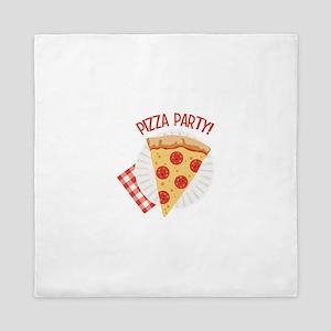 Pizza Party Queen Duvet