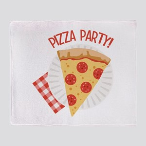 Pizza Party Throw Blanket
