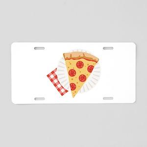 Pizza Slice Aluminum License Plate