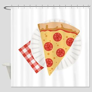Pizza Slice Shower Curtain