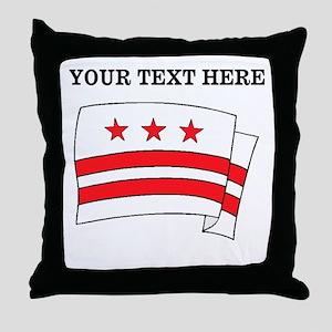Custom Washington DC Flag Throw Pillow