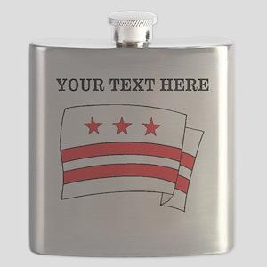 Custom Washington DC Flag Flask