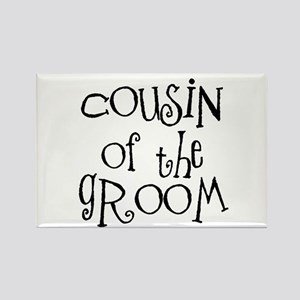 Cousin of the Groom Rectangle Magnet