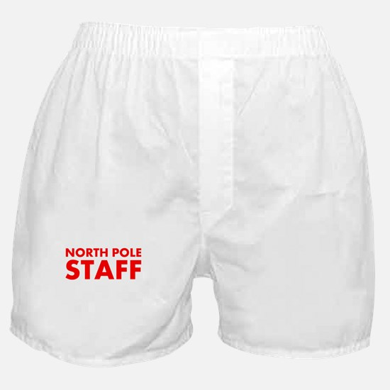 North Pole Staff: Red Boxer Shorts
