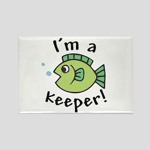 I'm a Keeper! (Fish) Rectangle Magnet