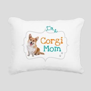 Im a Corgi Mom Rectangular Canvas Pillow