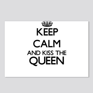 Keep calm and kiss the Qu Postcards (Package of 8)