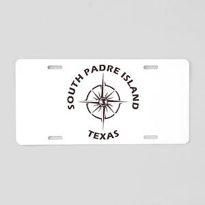 Texas - South Padre Island Aluminum License Plate