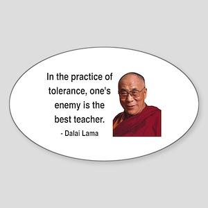Dalai Lama 13 Oval Sticker
