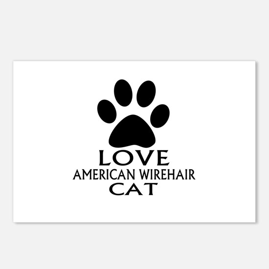 Love American Wirehair Ca Postcards (Package of 8)