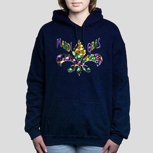 Mardi Gras Fleur Women's Hooded Sweatshirt