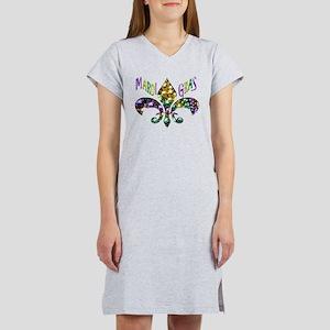 Mardi Gras Fleur Women's Nightshirt