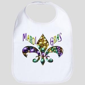 Mardi Gras Fleur Bib