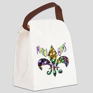 Mardi Gras Fleur Canvas Lunch Bag