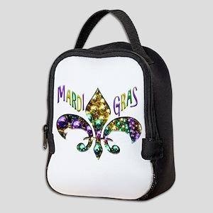 Mardi Gras Fleur Neoprene Lunch Bag