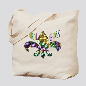 Mardi Gras Fleur Tote Bag